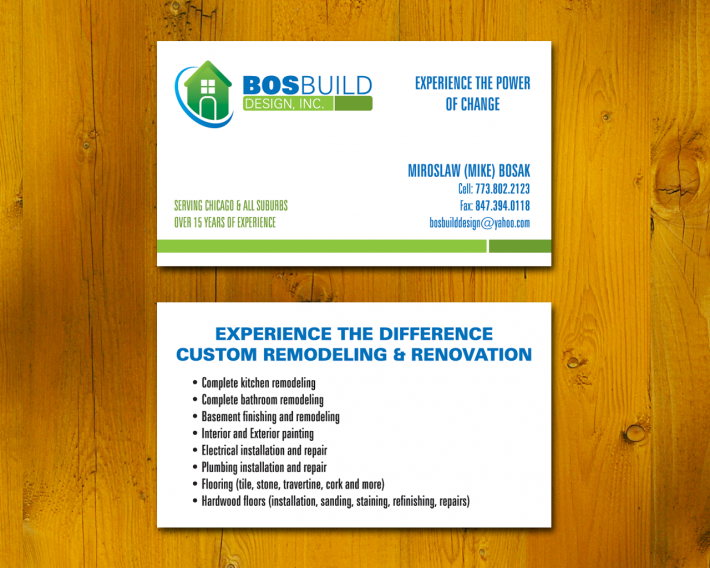Bosbuild Construction Business Card Chicago Printing And Design Services